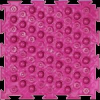 """Орто-коврик """"Акупунктурный"""" мягкий розовый 1шт 25см*25см модульный коврик Орто (ОРТОДОН)"""