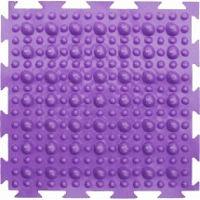 """Орто-коврик """"Камешки, первый шаг"""" мягкий фиолетовый 1шт 25см*25см модульный коврик Орто (ОРТОДОН)"""