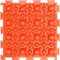 """Орто-коврик """"Камни"""" жесткий оранжевый 1шт  25см*25см модульный коврик Орто (ОРТОДОН)"""