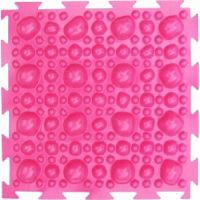 """Орто-коврик """"Камни"""" жесткий розовый 1шт  25см*25см модульный коврик Орто (ОРТОДОН)"""