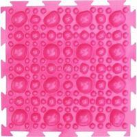 """Орто-коврик """"Камни"""" мягкий розовый 1шт  25см*25см модульный коврик Орто (ОРТОДОН)"""