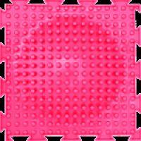 """Орто-коврик """"Островок"""" розовый жесткий 1шт 25см*25см модульный коврик Орто (ОРТОДОН)"""