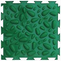 """Орто-коврик """"Шишки"""" мягкий зеленый 1шт 25см*25см модульный коврик Орто (ОРТОДОН)"""