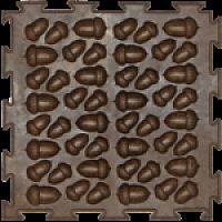 """Орто-коврик """"Эко Желуди"""" коричневый 1шт 25см*25см модульный коврик Орто (ОРТОДОН)"""
