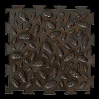 """Орто-коврик """"Эко Шишки"""" коричневый 1шт 25см*25см модульный коврик Орто (ОРТОДОН)"""