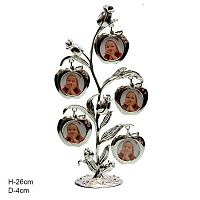 Фоторамка из сплава Семейное дерево 5 фото / PF9683 /уп 36/