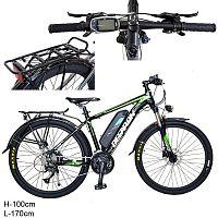 Электровелосипед / ML-26 /уп 1/ черно-зеленый