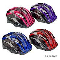 Шлем защитный / N-6 /уп 50/микс 4 цвета