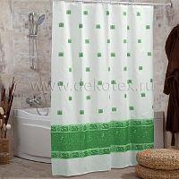 Шторы для ванн MIRANDA ANTIQUE зеленый 200*180см (полиэстер ткань)