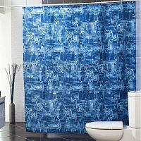 Шторы для ванн MIRANDA DENIM (цвет голубой) (ткань полиэстер)