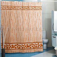 Шторы для ванн MIRANDA DROPS бежевый 200*180см (полиэстер ткань)