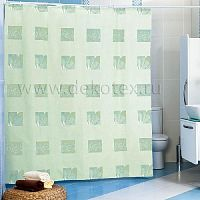 Шторы для ванн MIRANDA LEAF зеленый 200*180см (полиэстер ткань)