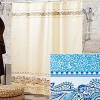 Шторы для ванн MIRANDA LEOPARD голубой 200*180см (полиэстер ткань)