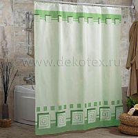 Шторы для ванн MIRANDA LYKIA зеленый 200*180см (полиэстер ткань)