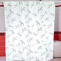 Шторы для ванн MIRANDA SAKURA белый 200*180см (полиэстер ткань)
