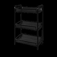 Этажерка для хранения Э 290 Ладья 2, металл, черный, 3 полки
