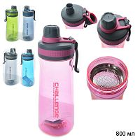 Бутылка для воды 800 мл / XYH-7060 / уп 12/60/ микс
