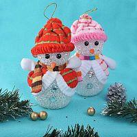 Новогоднее елочное украшение Снеговик / YT-8511/уп 200/ БЕЗ ПОДСВЕТКИ/ЭЛЕМЕНТ ДЕКОРА
