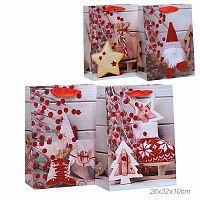 Пакет подарочный 26х32х10 Новый год / 9489-M /уп 12/480/