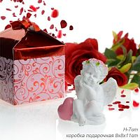 Ангел с сердцем в подарочной упаковке / L1660 / цвет микс