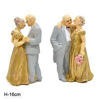 Фигурка Старички золотая свадьба 16 см / JHB2365 /уп 72/