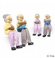 Фигурка Бабушка и Дедушка висячие ножки 2 штуки набор / H8001 /уп 96/