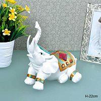 Статуэтка Слон отдыхает 22 см / KF6135 /уп 20/Акция