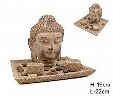 Фен-шуй сувенир Будда и подсвечники 2 штуки / CK-488 /уп 12/ уценка / дефект покрытия / нарушена упаковка /
