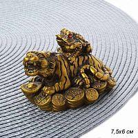 Фен-шуй сувенир Жаба на спине тигра / HZ-13 /уп 200/ Акция