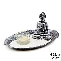 Фен-шуй сувенир подсвечник Будда со свечой  / K208 /уп 72/