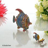 Шкатулка декоративная Рыбка из сплава / 684 /уп.80/Акция