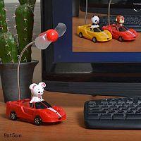 Вентилятор с USB кабелем и на солнечных элементах / LD6002 /уп 120/АКЦИЯ