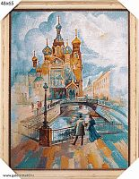 Картина гобелен 48х65 Бульвар У трех мостов / KS4821-3 / иваново