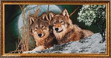 Картина гобелен 40x80 Волки / D029 / 10036-2 /