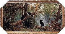 Картина гобелен 40х80 В сосновом бору / F074 / 10036-2 / золотая нить