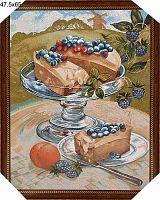 Картина гобелен 48х66 Дофине. Десерт / 10034-1 / иваново