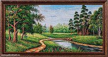 Картина гобелен 30х60 Лесной мостик / F324 / 10024-2 /