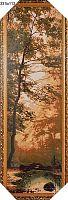 Картина гобелен 34х111 Изумрудный лес / JM317-1G / иваново