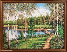 Картина гобелен 60х80 Березовый край / F317 / KS4020-1 / золотая нить