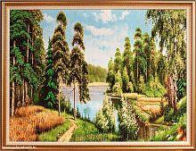 Картина гобелен 60х80 Летний день / F085 / KS4020-1 / золотая нить