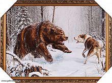 Репродукция картины 60х100  Охота на медведя / 12 / JM317-1G /