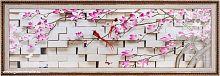 Репродукция картины на холсте 34х113 Птицы / ZR5362A-304H34 /на подрамнике