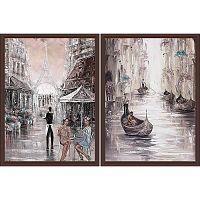 Постер из двух картин Европейские каникулы 30х40 см