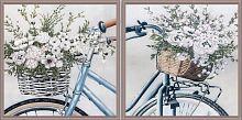 Постер из двух картин Велопрогулка 30х30 см