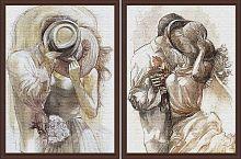 Постер из двух картин Влюбленная пара 30х40 см
