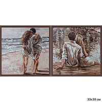 Постер из двух картин На берегу 30х30 см