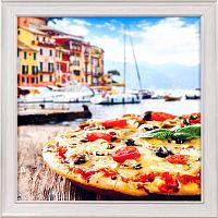 Постер в раме 30х30 Итальянская пицца / А48 / CH8107-1 /
