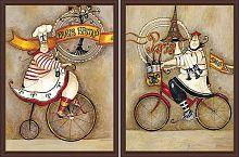 Постер из двух картин Парижские повара 30х40 см