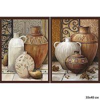 Постер из двух картин Средиземноморские вазы 30х40 см