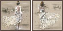 Постер из двух картин Утренняя прогулка 30х30 см